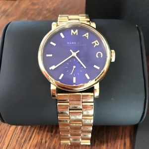 Marc By Marc Jacobs Nautical blue and gold watch